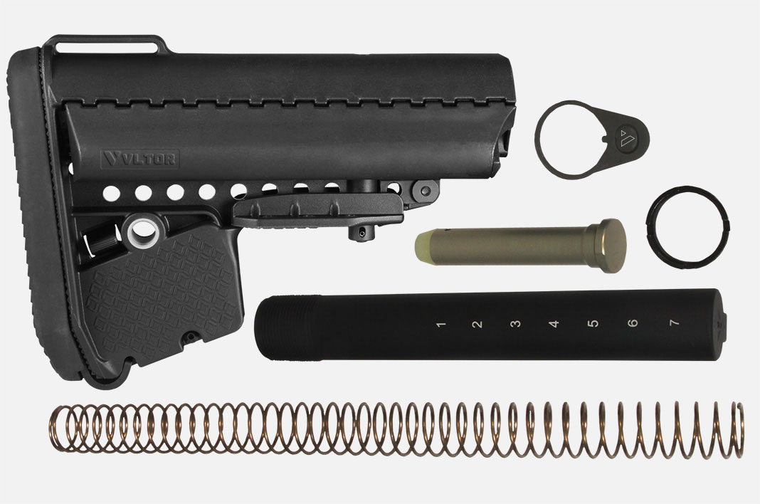 The VLTOR A5 Stock and buffer system is where the M16A5 concept draws its name